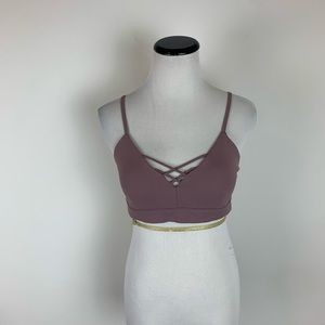 Alo Yoga Strappy Pink Sports Bra Size Medium